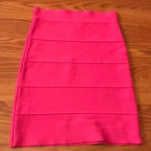 NEVER WORN bcbg hot pink bandage skirt